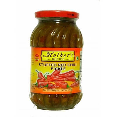 mothers-recipe-stuffed-red-chilli-pickle-400-gm